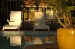 Relax by the pool & BBQ area at the Hospitality Inn Geraldton